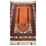 Handmade Persian wool prayer rug
