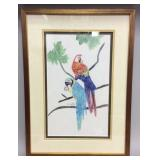Framed and matted watercolor, signed by artist