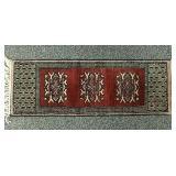 Small Persian hand made wool mat