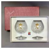 Baccarat monogrammed brandy snifters