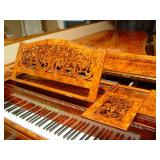 1864 Collard & Collard burled rosewood concert