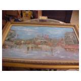 Large Original Painting in Frame