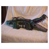 Stained Glass Crocodile Lamp