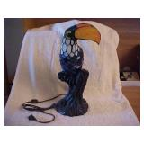Toucan Stained Glass Lamp