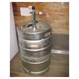 Full Size Budweiser Beer Keg w/ Pump