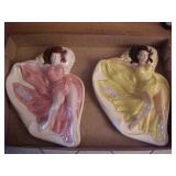 Two Classic Ceramic  Ashtrays