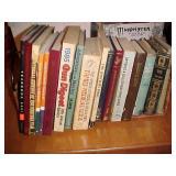 Books in Wicker Shelf