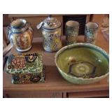 Assortment of Vintage Mexican Pottery