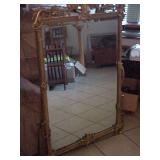 Large Mirror in Ornate Gold Frame