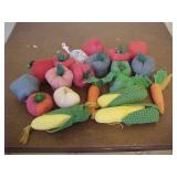 Handmade Pin Cushion Vegetables