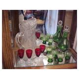 Liqueur Decanter and small glass Lot