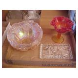 Pink Irredescent Bowl Lot