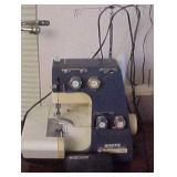 White Super Lock 534 Sewing Machine