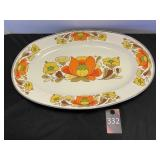 Lg Platter Country Flowers