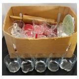Box of Glassware & Kitchen Items