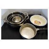 Mixing Bowls, Serving Dish & Sauce Pan