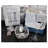 Waterford Crystal Candlesticks, Goblets & Bowl