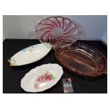 Depression Glass & Vintage Serving Dishes