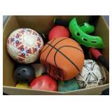 Box of Sports Equipment