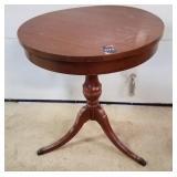 Vintage Round Wood Table