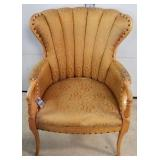 Vintage Channel Back Arm Chair