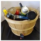 Bushel Basket of Garage Items