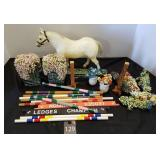 Vintage Horses & Jumping Set