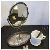 Vintage Mirror, Cup & Scissors