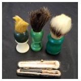 Vintage Shaving Brushes & Cigarette Holder broken