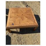"38"" Sq Wood Coffee Table"