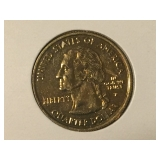 gold plated Ala. quarter