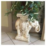 pair of elephant plant stands