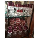 ruby trimmed glassware