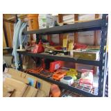 lots of small working tools & shelf