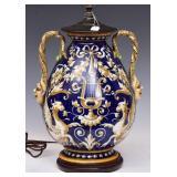 Italian Faience Vase/Lamp
