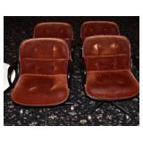 Set of Four Knoll Swivel Office Chairs