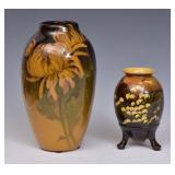 Two Rookwood Standard Glaze Vases