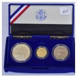 US Proof Set with 5 Dollar Gold Coin