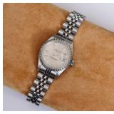 Rolex Ladies Stainless Wrist Watch