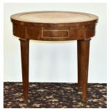 French Restauration Style Oval Side Table