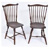 Pair of Connecticut Windsor Chairs