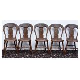 Set of Five Pennsylvania Plank Chairs