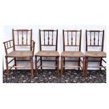 Set of Four Maple Sheraton Chairs