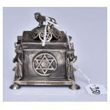 Russian Judaica Silver Incense Box