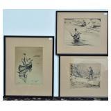 Charles Ettinger Sporting Lithographs (3)