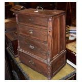 Victorian Hardware Sample Cabinet