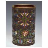 Chinese Cloisonne Floor Vase