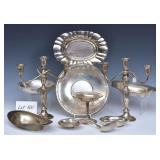 Group of .800, Coin and Sterling Silver Holloware