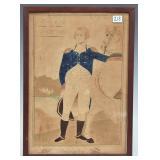 Folk Art Drawing- George Washington and his Horse