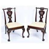 Pair of George III Side Chairs